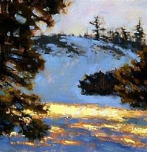 'Mt. Pinos Winter' by Jennifer McChristian Oil ~ 14 x 14