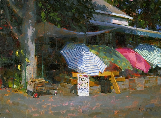 Hatch's Market by Jennifer McChristian Oil ~ 14 x 19