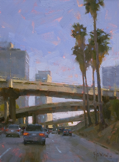 Heading South on the 110 by Jennifer McChristian Oil ~ 16 x 12