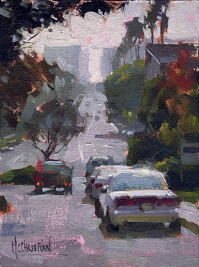 Brand Blvd. by Jennifer McChristian Oil ~ 4.5 x 5