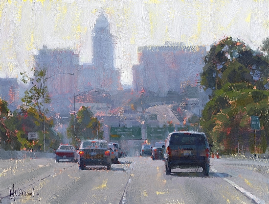 Next Exit, Hill St. by Jennifer McChristian Oil ~ 11 x 14