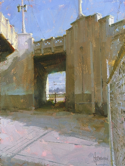 Urban Passage by Jennifer McChristian Oil ~ 12 x 9