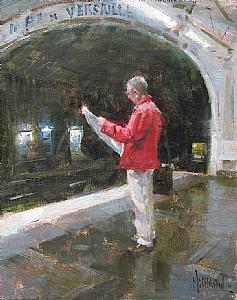 Porte De Versailles by Jennifer McChristian Oil ~ 10 x 8