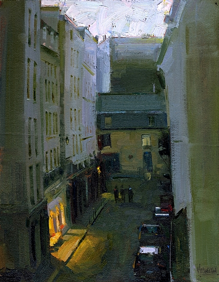 Le Marais Twilight by Jennifer McChristian Oil ~ 14 x 11