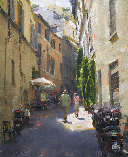 Traipsing In Trastevere by Jennifer McChristian Oil ~ 17 x 14