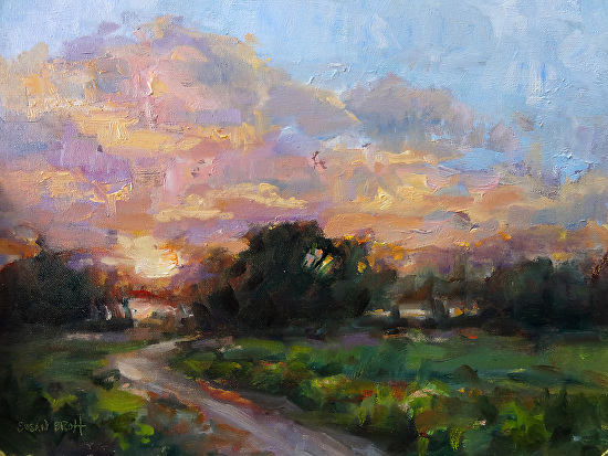 Twilight near the Lake - Oil