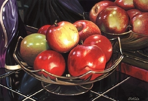 How do you like �THEM APPLES�? by Bob Petillo Acrylic ~ 10 x 14.5