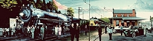"New Jersey Rail Legacy by Bob Petillo Acrylic ~ 33.5"" x 11.5"""