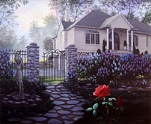 Garden of Passion by Bob Petillo Giclee Reproduction ~ 16.5 x 20