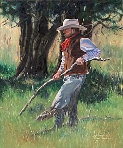 Rattler Wrangler by Faye Taylor Oil ~ 24 x 20