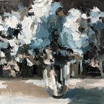 Regina Willard - Winter Floral...  limited color palette style
