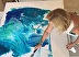 Painting in Gildea Gallery Key West Florida by Sheila Olsen