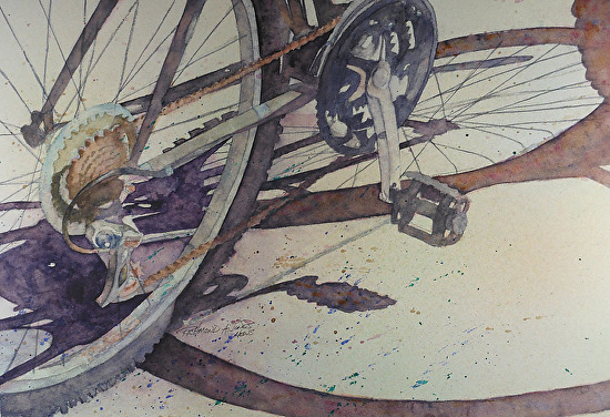 Wheels - Watercolor