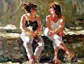 """Friends"" by Abby Warman Oil ~ 8"" x 10"""