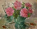 Peonies and Brushes by Abby Warman Oil ~  x