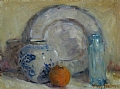 "Ginger Jar and Orange by Abby Warman Oil ~ 12"" x 16"""