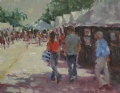 """Art Fair"" by Abby Warman Oil ~ 11"" x 14"""