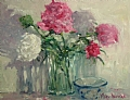 """Gift of Peonies"" by Abby Warman Oil ~ 16"" x 20"""