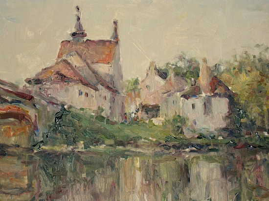 Angles sur L'Anglin by Abby Warman Oil ~ 11 x 14