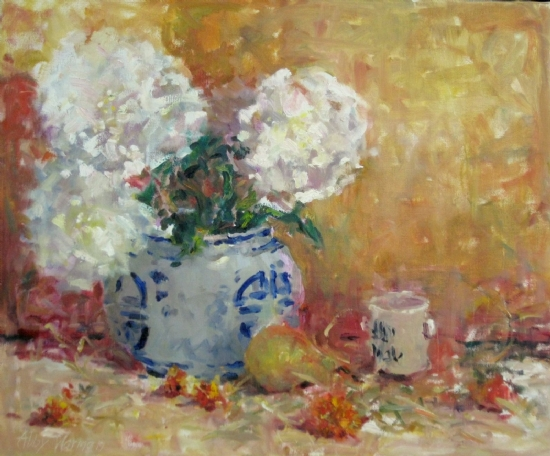 """Third on Canvas - still life"" by Abby Warman Oil ~ 20"" x 24"""