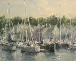 """Harbor at Camden"" by Abby Warman Oil ~ -16"" x -20"""