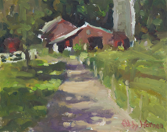 "At the Farm by Abby Warman Oil ~ 8"" x 10"""