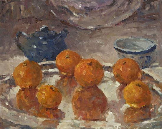 "Tangerines by Abby Warman Oil ~ 16"" x 20"""