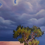 Ron Larson - Ron Larson painting at Dixie State University