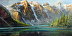 The Ten Peaks; Lake Moraine by Gil Dellinger