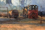 Port of Stockton - Trains by Gil Dellinger Acrylic ~ 48 x 72