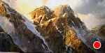 10 Peaks around Lake Moraine, Banff by Gil Dellinger Acrylic ~ 36 x 72
