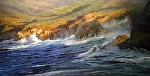 Sobrannes Point, Big Sur by Gil Dellinger Acrylic ~ 36 x 72