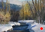 Winter Creek, Victor Idaho by Gil Dellinger Pastel ~ 18 x 24