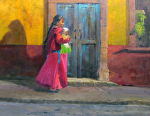 A Princess of San Miguel Allende by Gil Dellinger Oil ~ 24 x 30