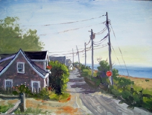 Sconset, Low Beach Road - Oil
