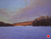 Winter Colors On The River by Kami Mendlik Oil ~ 14 x 18