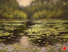 Impression Of The Pond by Kami Mendlik Oil ~ 14 x 18