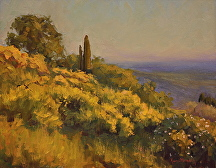 Tuscan Broom Brush by Kami Mendlik Oil ~ 11 x 14