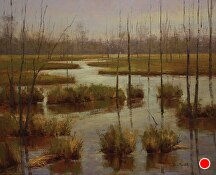 Old Shanty Wetlands by Kami Mendlik Oil ~  x
