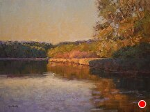 Light's Symphony On The Pond by Kami Mendlik Oil ~ 18 x 24