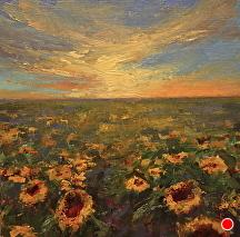 Miles Of Hope by Kami Mendlik Oil ~ 14 x 14
