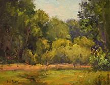 Lush Greens by Kami Mendlik Oil ~ 8 x 10