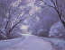 Winter's Lasting Impression by Kami Mendlik Oil ~ 11 x 14