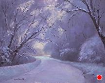 Winter's Lasting Impression by Kami Mendlik Oil ~ 11 x 14