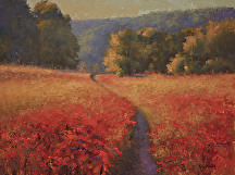 A Stroll Through Scarlet by Kami Mendlik Oil ~ 18 x 24