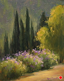 From A Garden In Tuscany by Kami Mendlik Oil ~ 10 x 8
