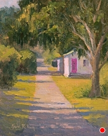 Pink Door Alley by Kami Mendlik Oil ~ 10 x 8