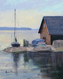 Anderson Docks Ephraim by Kami Mendlik Oil ~ 10 x 8