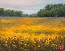 Minnesota Prairie Fields by Kami Mendlik Oil ~ 11 x 14