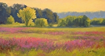 Purple Loosestrife Autumn by Kami Mendlik Oil ~ 8 x 15